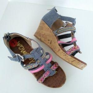 Sam Edelman Elsie Tia Wedge Sandals NWOT Sz 2